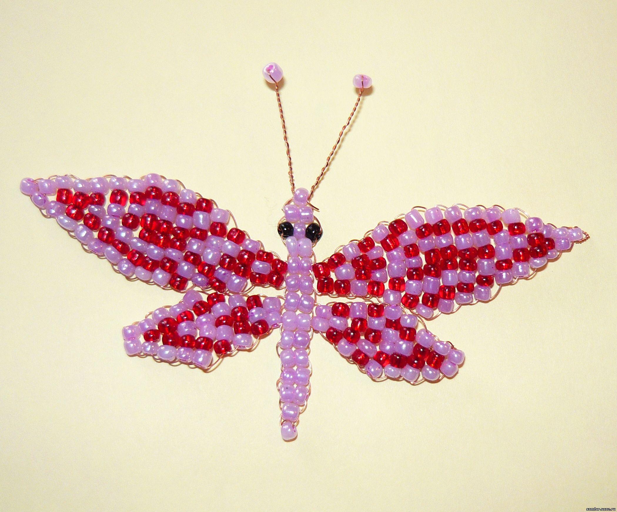 Поделки из бисера бабочек 205